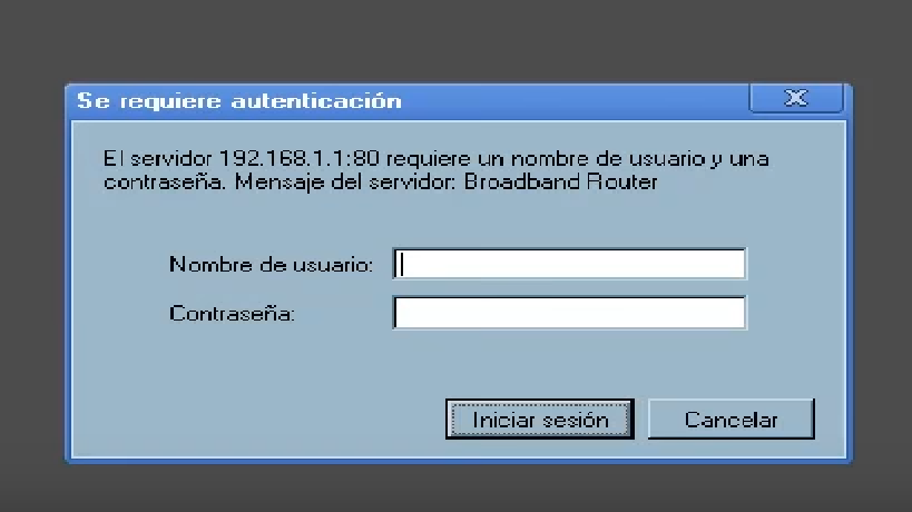 ip 192.168.1.1 acceso